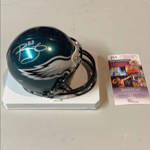 Other - Trey Burton Signed Eagles Mini Helmet JSA